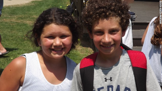 The author's children, Lexi and Jonah Sachs, at camp