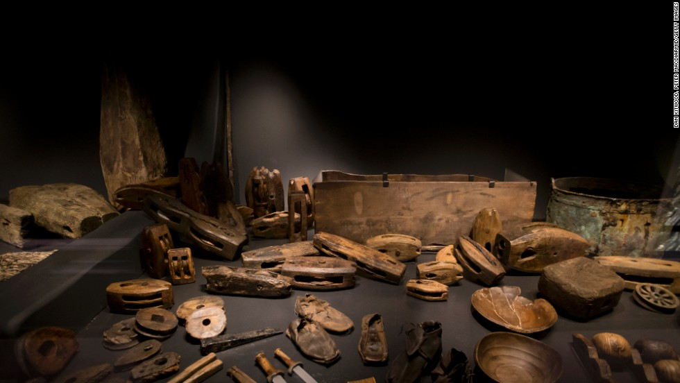 Many items recovered from the wreck of the Mary Rose are exhibited in the new museum.