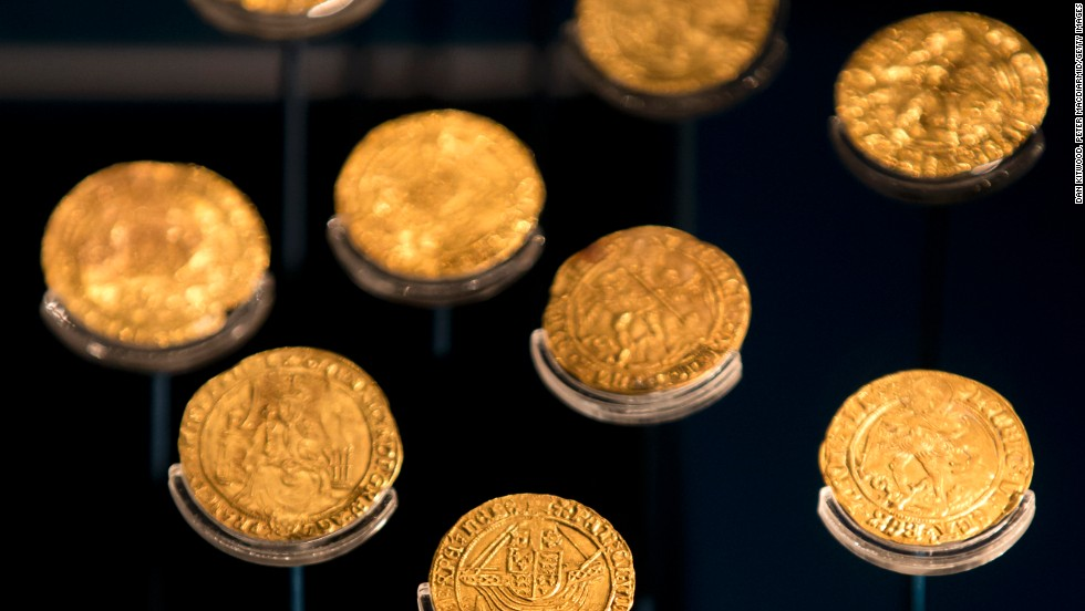 Gold coins recovered from the wreck of the Mary Rose are also on display in the new museum.