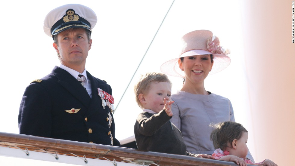The Danish royal family still enjoy summer holidays aboard their enormous 78-meter yacht Dannebrog, with Prince Frederik, Princess Mary and their children Prince Christian and Princess Isabella of Denmark pictured here in their finest nautical attire.