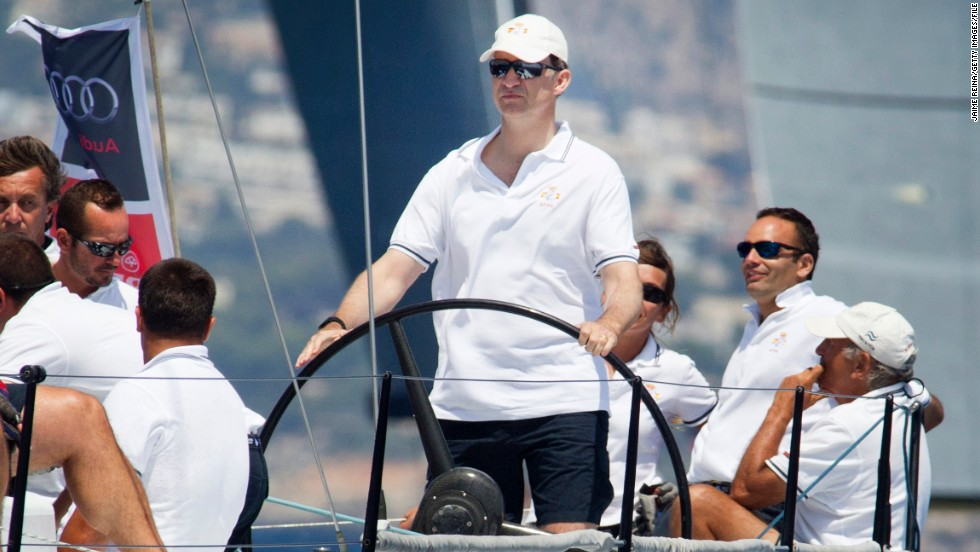 "With Spain's unemployment rate at more than 27%, the country's royal family has decided to give up their $27 million luxury yacht in an act of solidarity with their struggling citizens. The  yacht, called ""Fortuna"", has hosted dignitaries from around the world. Here, Prince Felipe of Spain is pictured sailing the ""Aifos"" yacht during the 31st Copa del Rey Regatta in Palma de Mallorca last year."