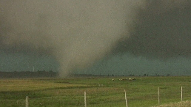 See tornado touch down in El Reno, OK