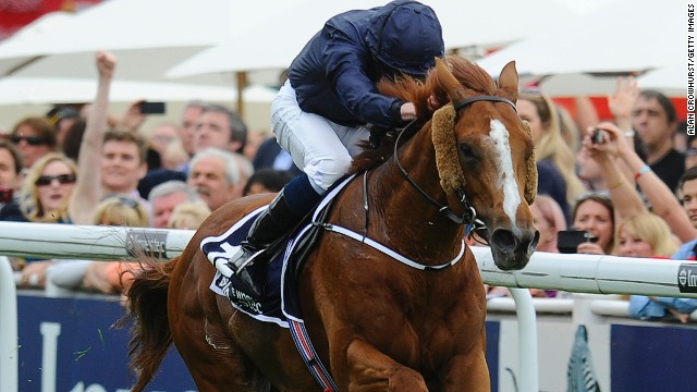 Ryan Moore rides Ruler Of The World to victory at the prestigious Epsom Derby on Saturday.
