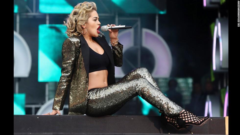 Rita Ora performs during Sound for Change.