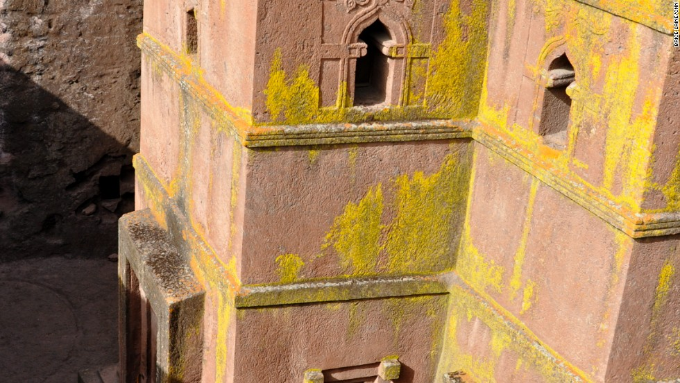 Bet Giyorgis is one of 13 monolithic churches in Lalibela, a village in the mountains of Lasta.
