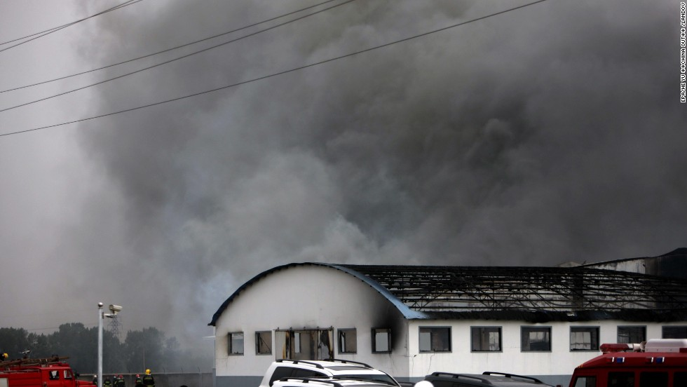"Smoke billows from a large poultry processing plant in Mishazi Township of Dehui City in northeast China's Jilin Province on Monday, June 3. <a href=""http://www.cnn.com/2013/06/03/world/asia/china-fire/index.html"">More than 300 workers were inside the plant</a> when the fire broke out about 6 a.m., the state-run Xinhua news agency said. More than 100 people were reported killed in the fire."