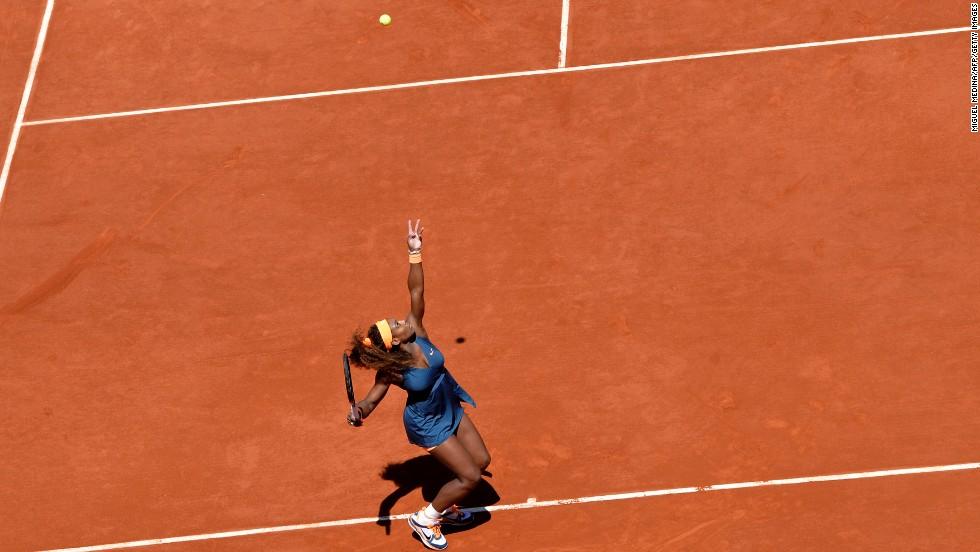 Williams serves to Kuznetsova on June 4.