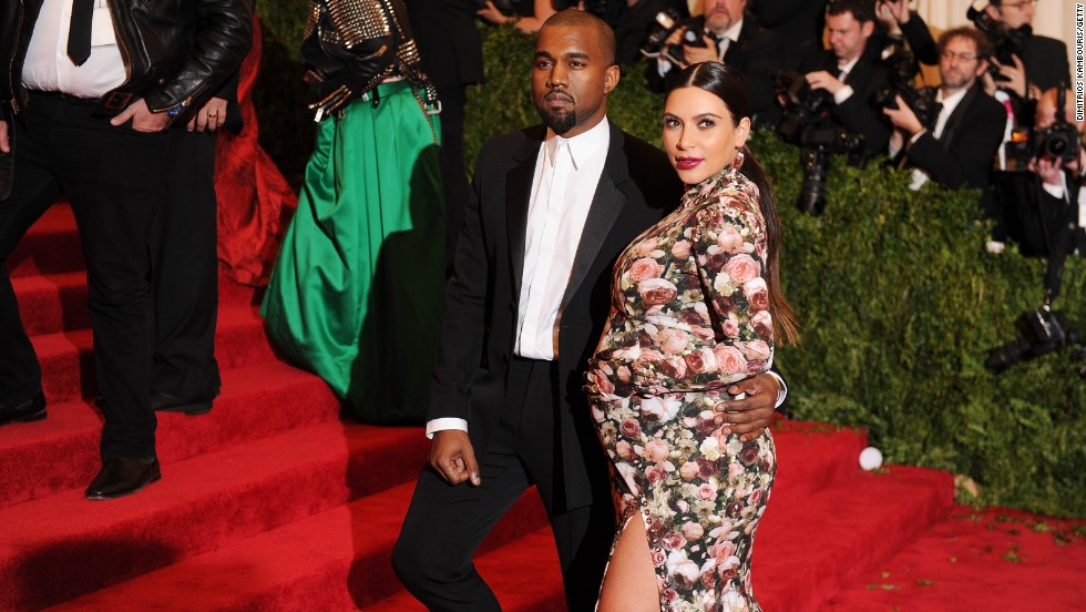 "If there were a thought bubble above Kanye's head at the 2013 Met Gala, we'd bet it would say, ""say something about my girlfriend's dress. I dare you."""