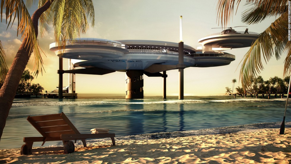 It might look like a spaceship, but this remarkable design is in fact a luxury underwater hotel.