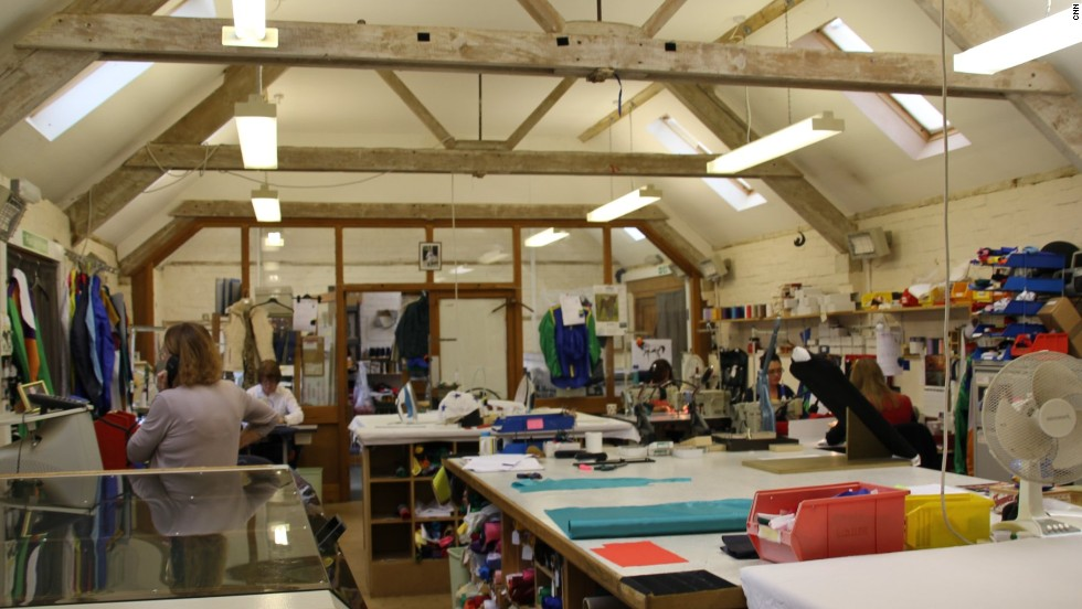 While jackets were originally made from silk, today they are more likely to be made from a lycra and polyester mix, in specialized factories such as Allertons (pictured) in Britain.