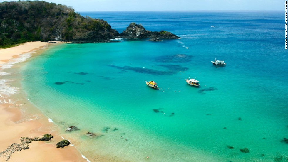 Often voted Brazil's best beach, Praia do Sancho is accessible only via ladders attached to the cliff face or by boat.