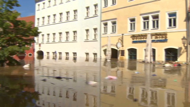 Streets turned into rivers in Germany