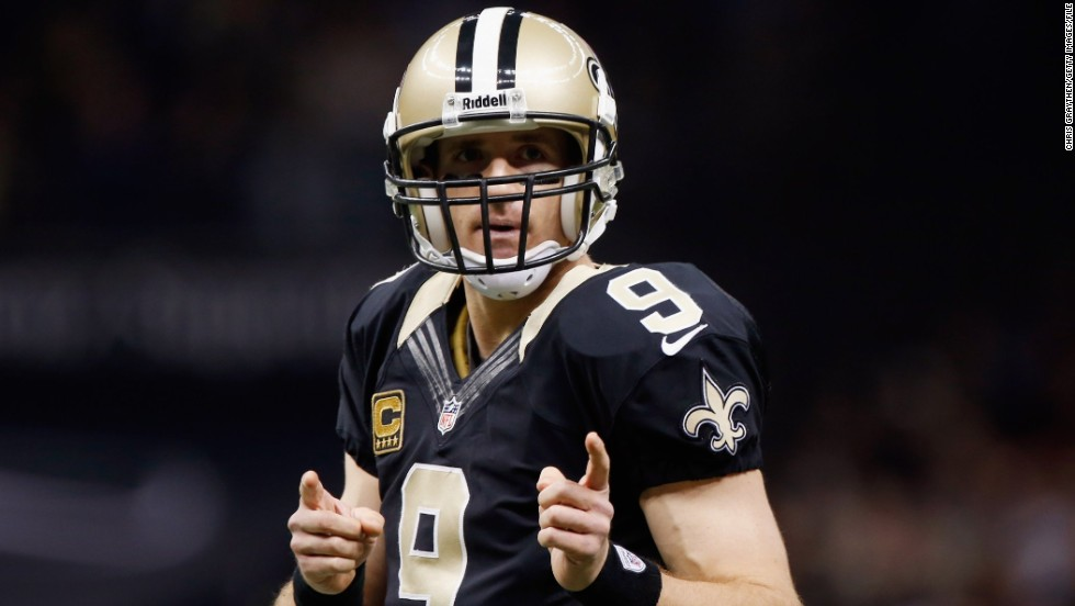 Quarterback Drew Brees cashed in last July by signing a new five-year contract with the NFL's New Orleans Saints worth $100 million. Brees' new deal also came with a $37 million signing bonus.