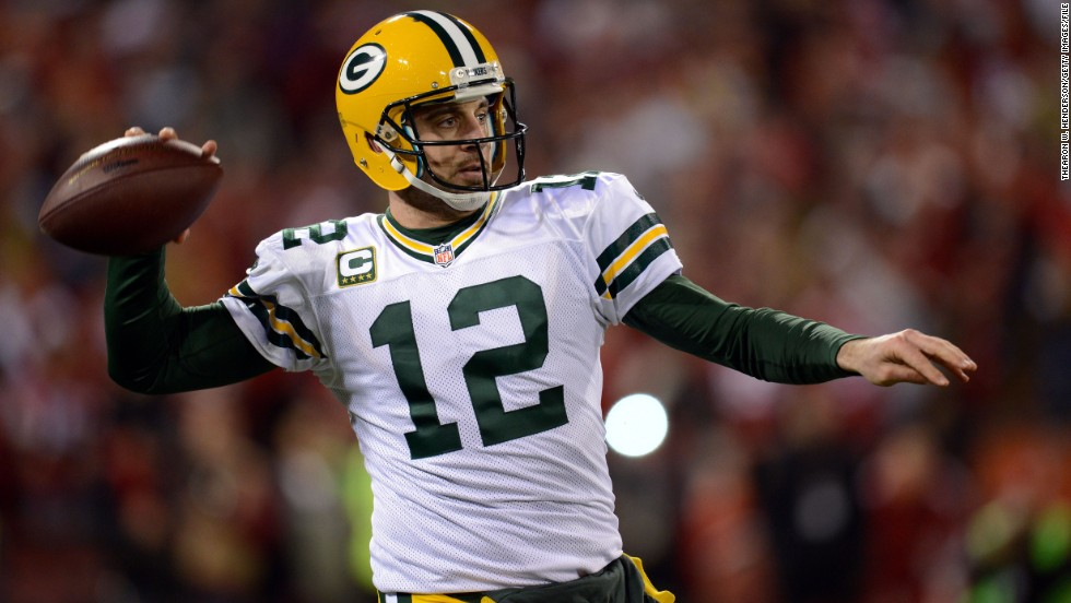 Aaron Rodgers of the Green Bay Packers is the highest annual earner in the NFL. His five-year deal is worth $110 million.