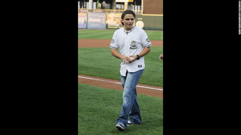 Prince Michael Joseph Jackson Jr. attends a baseball game in August 2012 during a visit to his late father's hometown of Gary, Indiana.