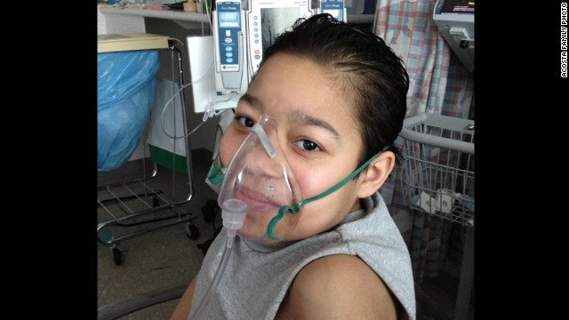 Javier Acosta, 11, currently is hospitalized at Children's Hospital of Philadelphia while awaiting a lung transplant.