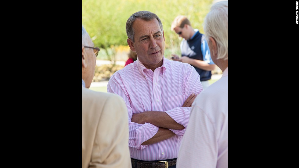 John Boehner, speaker of the U.S. House of Representatives, visits in 2012.