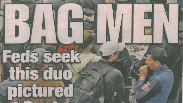 "The New York Post cover identifying ""Bag Men"" in Boston Bombings."