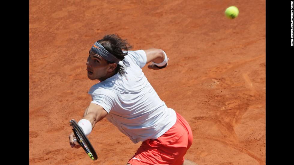 Nadal returns to Djokovic on June 7.
