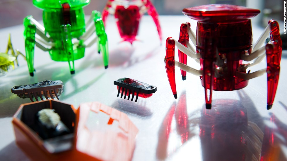 The Hexbug line of bug-bots became popular in 2009. They feature miniature battery-powered creepy-crawlies that are actually simple robots.
