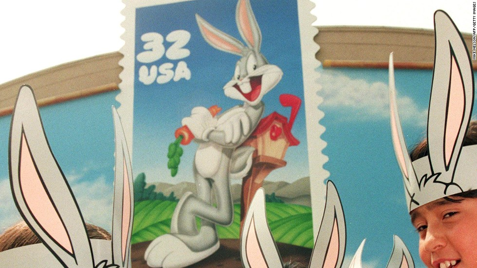 He's not a bug. He's a rabbit. But Bugs Bunny got his own stamp in 1997. Some stamp collectors gave the U.S. Postal Service an earful, saying they thought the famous cartoon character was undeserving of a stamp.