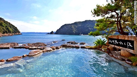 Wakayama has plenty of ancient onsen spots. Saki-no-yu in Shirahama, south of Wakayama, is a public bath right on the shore of the Pacific .