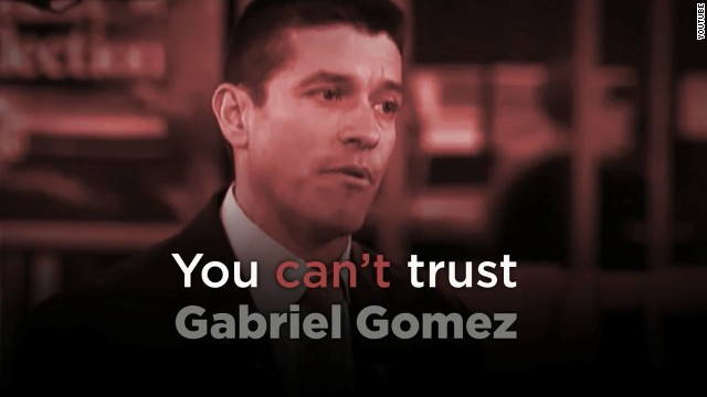 An opposition ad targeting Gabriel Gomez, who is running against Ed Markey for the Senate in Massachusetts.