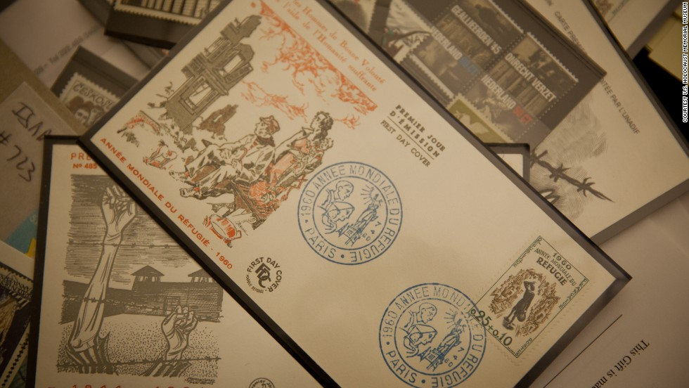 Postcards were among the artifacts donated during the Holocaust Museum's 20th-anniversary tour.