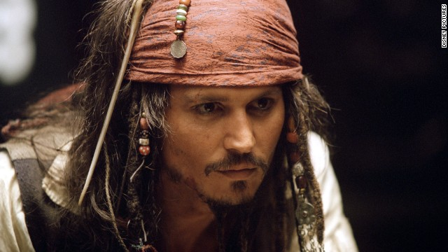 "Johnny Depp has starred in all of the ""Pirates of the Caribbean"" films."