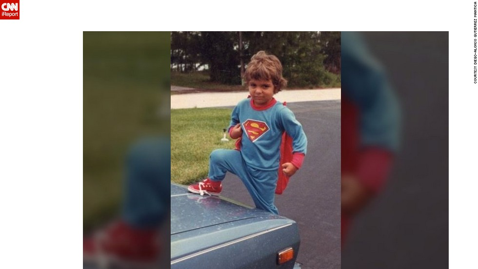 "As a child, <a href=""http://ireport.cnn.com/docs/DOC-984390"">Diego-Alonso Mantica's</a> memories of Superman started when he first wore his blue and red Superman pajamas, which you can see here in his 1986 photo outside his home in Miami. But as he got older, Mantica says Superman became something more for him. ""He 'ignited' me, and turned on the dormant rationale that we humans have five senses, while the reality is otherwise. We, too, can have 'superhuman' abilities,"" he said. ""He is admired by kids because innately, we human beings choose good over evil."""