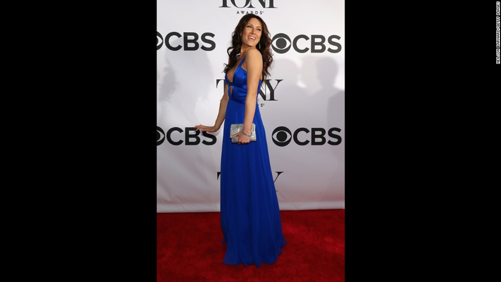 Laura Benanti poses for photographers.