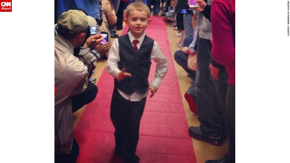 "Turns out lots of preschools have proms! <a href=""http://ireport.cnn.com/docs/DOC-984577"">Calvin Coursen</a> struts the red carpet at his preschool prom at Kiddie Academy of Eatontown in Eatontown, New Jersey. ""I personally loved seeing my son dressed up and so excited to be with all his friends,"" said mom Gwendolyn Coursen."