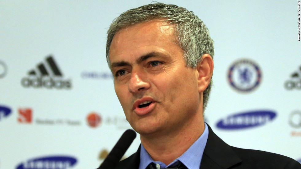 Chelsea manager Jose Mourinho talks to the media during his comeback press conference at Stamford Bridge on June 10.