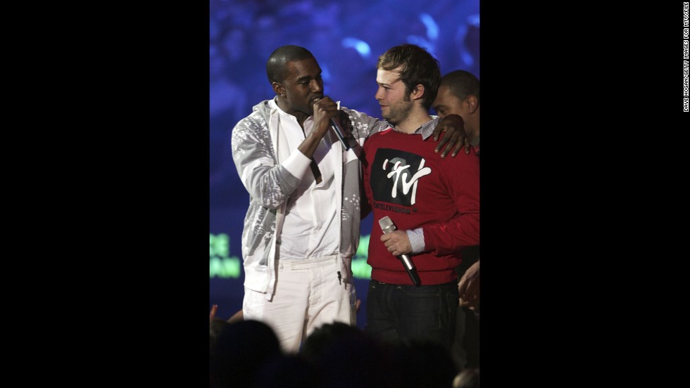 "<strong>November 2006: </strong>Kanye really doesn't like losing, and he reminded us of that at the MTV Europe Music Awards in November 2006, when he stage-crashed Justice vs. Simian's best video win for ""We Are Your Friends."" Clearly, his video ""Touch the Sky"" should've won because ""it cost a million dollars, and Pamela Anderson was in it.""<a href=""http://www.mtv.com/news/articles/1544794/kanye-had-sippy-sippy-before-emas.jhtml"" target=""_blank""> Having a ""sippy sippy"" pre-awards show</a> might convince one of such merits."