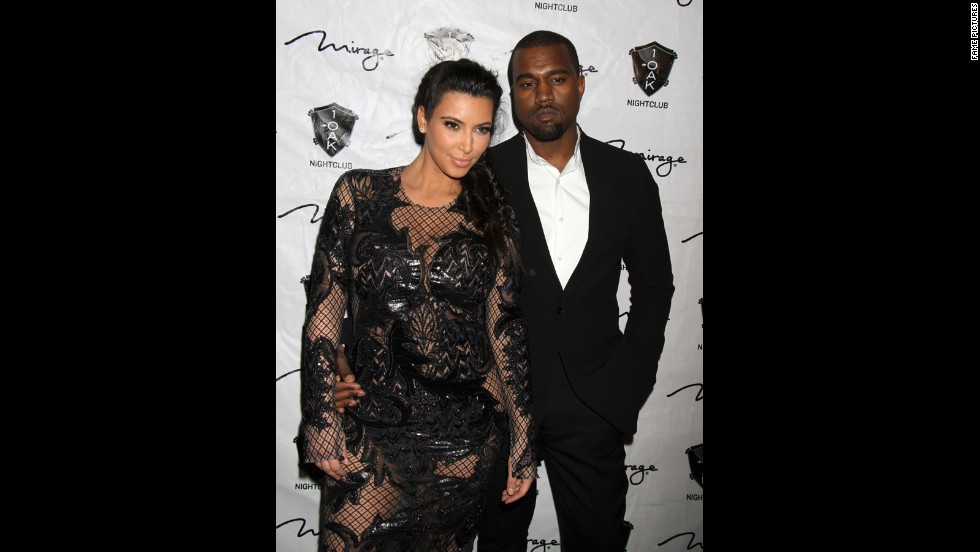 "<strong>December 2012</strong>: Every expectant parent has their own way of breaking the news to loved ones that they're awaiting an addition to the family. <a href=""http://www.tmz.com/2012/12/30/kim-kardashian-pregnant-kanye-west-baby-announcement/"" target=""_blank"">Kanye opted to share the joyous news</a> with concert attendees at his Atlantic City show on December 31, when he encouraged the crowd to ""make some noise"" for his ""baby mama."""
