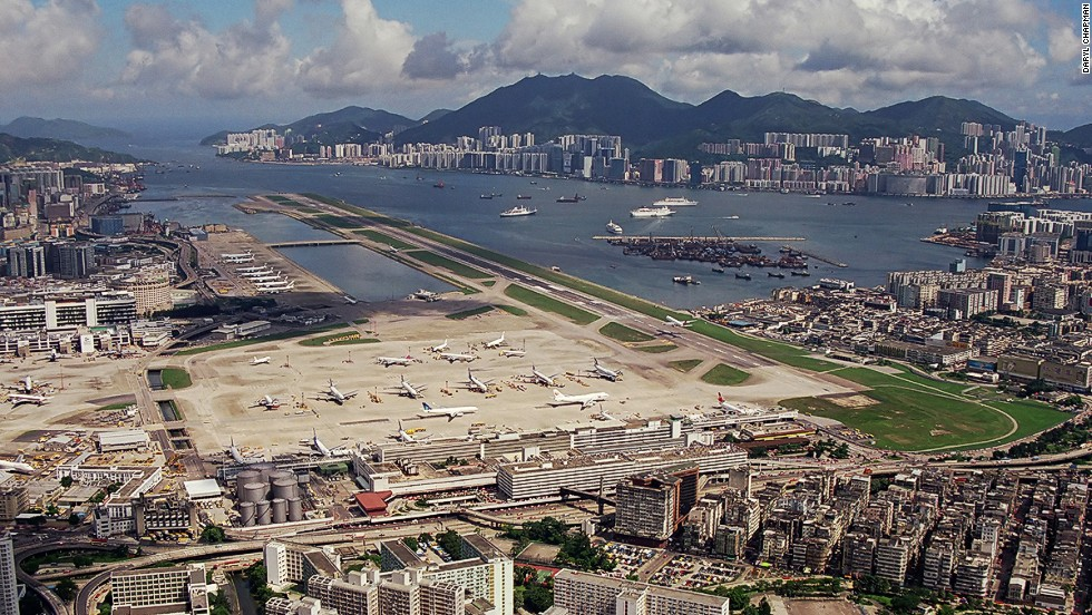 Sitting in the city and in the sea, Kai Tak International Airport was one of the most dangerous (read exciting) airports in the world to land at. The site was largely unused after it closed until 2009 when construction started to transform the runway into a cruise ship terminal.