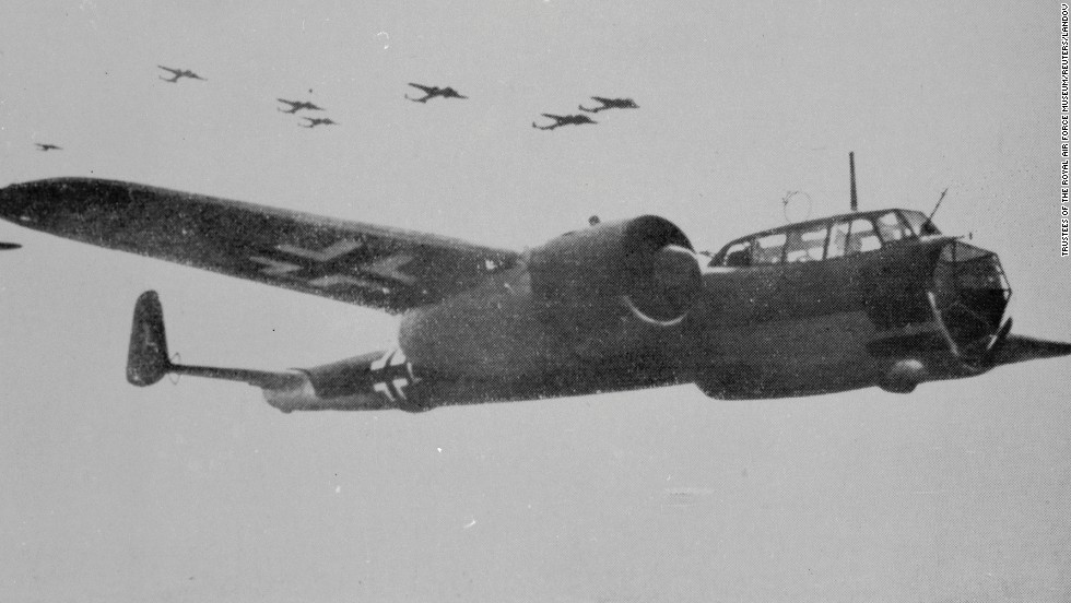 A German Luftwaffe Dornier 17 bomber is seen in flight in this undated World War II-era archive photo provided by the Royal Air Force Museum.