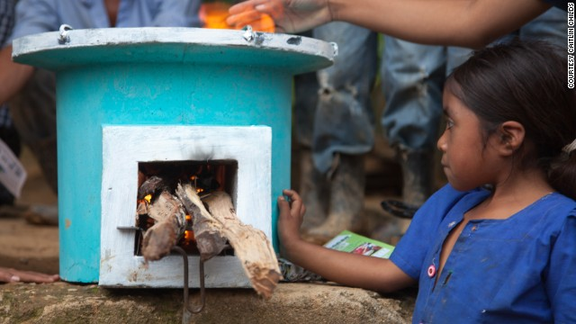 The Ecocina stove reduces carbon emissions and particulate matter by 70%. It also uses half the wood of an open fire.