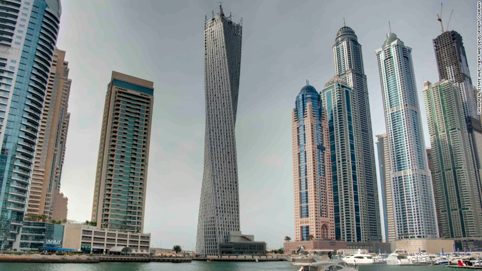 The structure stands at 307 meters high with each floor rotated by 1.2 degrees.