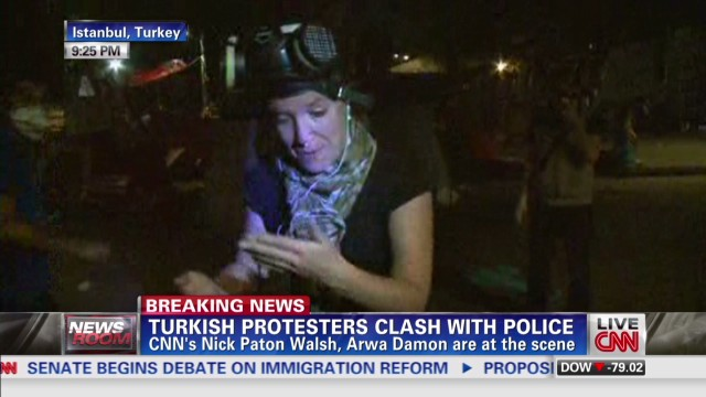CNN reporters in midst of protests
