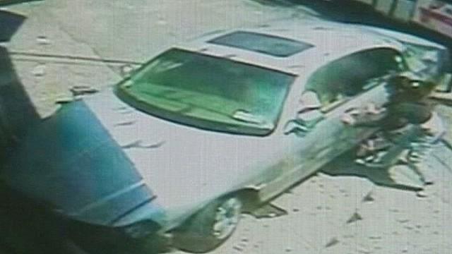 Mom saves baby under cab