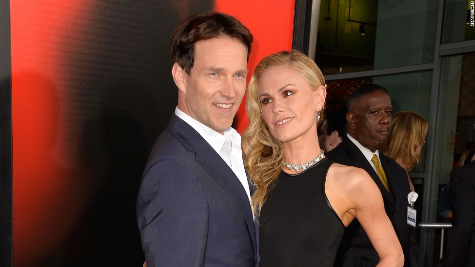 "Stephen Moyer and Anna Paquin attend the ""True Blood"" season 6 premiere."
