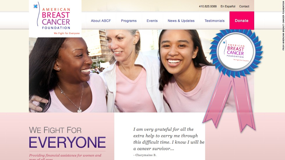 "<a href=""http://www.tampabay.com/americas-worst-charities/charities/american-breast-cancer-foundation-inc"" target=""_blank""><strong>No. 4:  American Breast Cancer Foundation:</a></strong> One of the most wasteful charities in the nation for 13 years, this group lured donors by promising to pay for breast cancer screenings. It now says it's using community events to raise money. In its latest tax filing, the charity reported giving a total of $100,000 to five medical facilities to help pay for breast cancer screening services for low-income women."