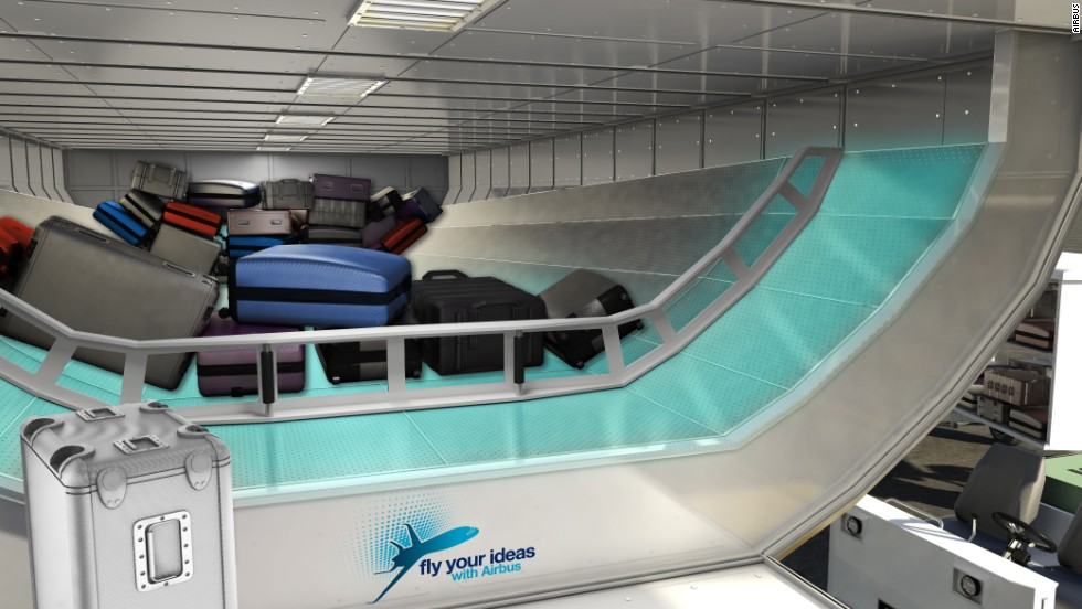 Using the same technology employed in an air hockey table, students from the University of São Paulo have devised a system of loading and unloading luggage that allows bags to float on and off the aircraft. This should cut down on wait time at the carousel.