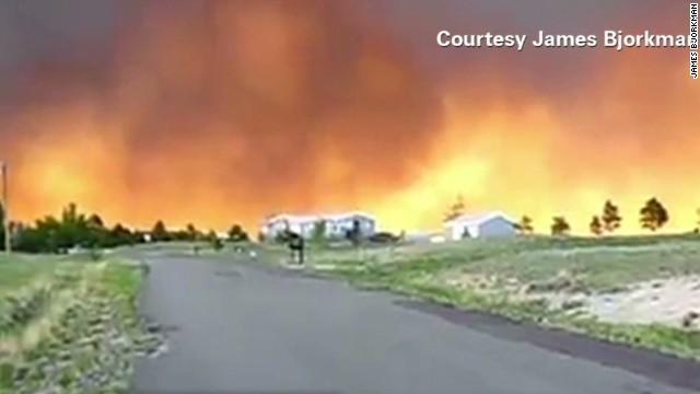 Wildfires blazing in Colorado