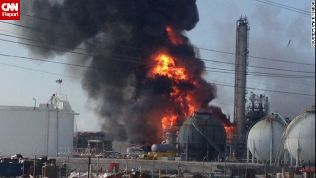 Explosion at chemical plant in Louisiana