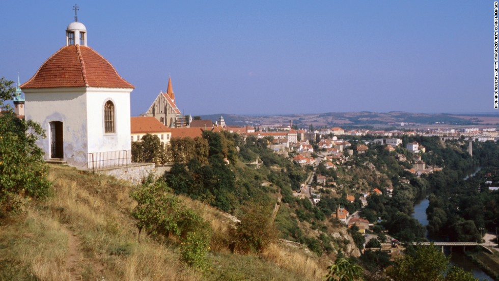 Step away from Prague to enjoy the quieter life in Moravia. Shown here is a chapel overlooking the Dyje River and town of Znojmo, in the Znojemska Wine Region.