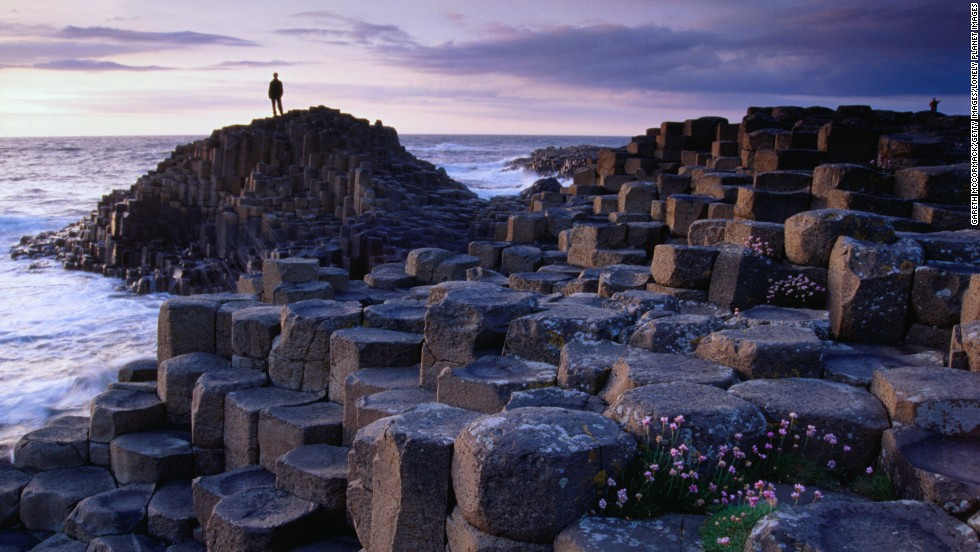 Although legend has it that the Giant's Causeway in Northern Ireland was constructed by the mighty giant Finn McCool, it's actually the result of ancient volcanic activity.