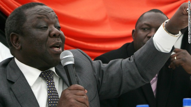 Zimbabwe Prime Minister Morgan Tsvangirai speaks during a press conference in Harare on June 12, 2013.