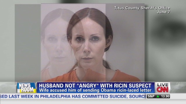Husband not 'angry' with ricin suspect
